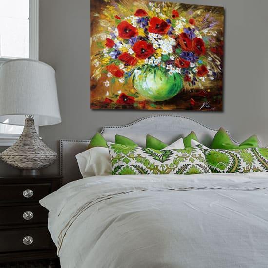 Obrazy olejne do sypialni podkreślą styl i klimat we wnętrzu
