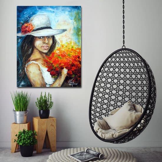 Obrazy na ścianę ręcznie malowane to eleganckie i  popularne dekoracje na ściany