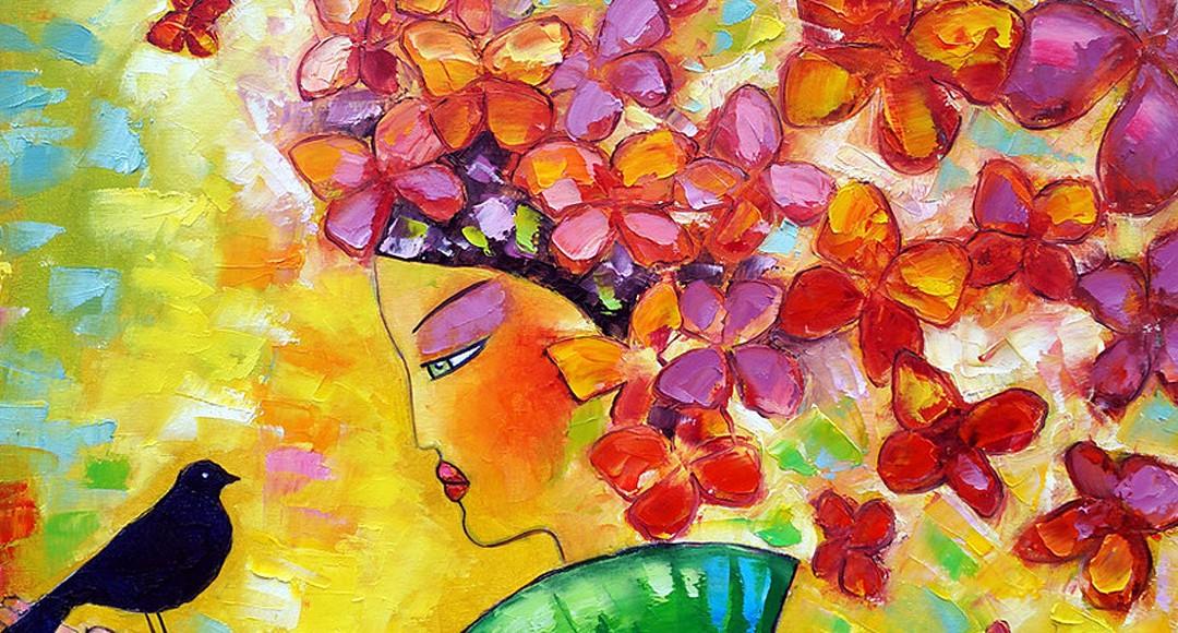 Obrazy olejne motyle