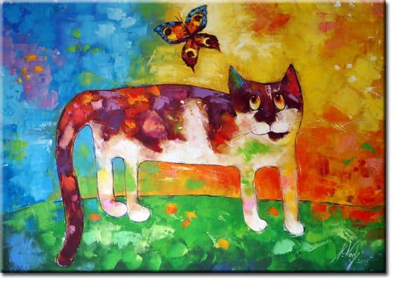 Obrazy olejne z kotami