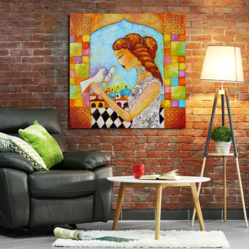 malarstwo olejne orientalna kobieta