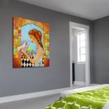 kolorowy obraz ręcznie malowany