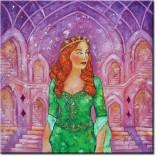 obraz ręcznie malowany z sułtanką