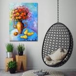 obraz na płótnie kwiaty i owoce
