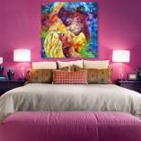 dekoracja do sypialni pocałunek