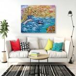 obrazy malowane na płótnie do salonu