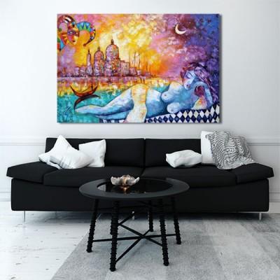 obraz z Wenecją i arlekinem