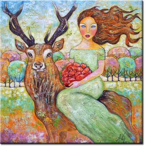obraz ręcznie malowany