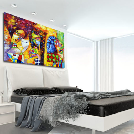 obraz do sypialni z postaciami kobiet