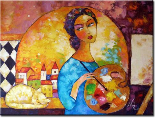 malarstwo olejne w atelier