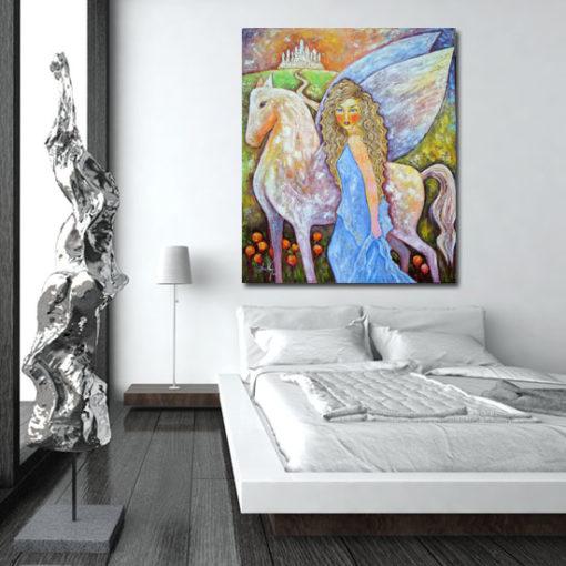 pegaz na obrazie malowanym