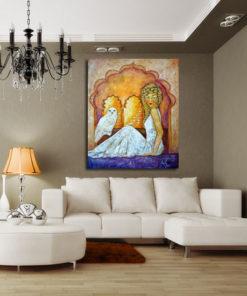 obraz na płótnie aurora i sowa