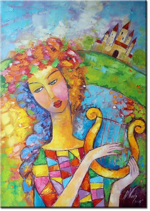 malarstwo sztalugowe kobieta