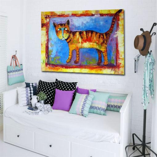 Obraz na płótnie z uroczym kotem