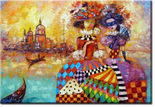 obraz kobiety w Wenecji