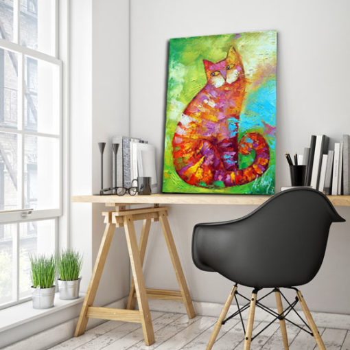 obraz bajkowy kot