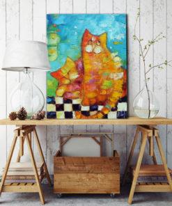 obraz bajkowy - koty