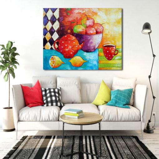 obrazy ręcznie malowane do salonu