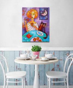 obraz malowany do jadalni
