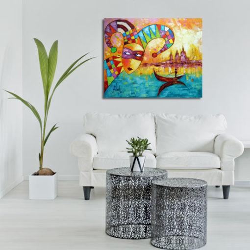 obraz malowany z Wenecją