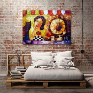 Obrazy ręcznie malowane do sypialni
