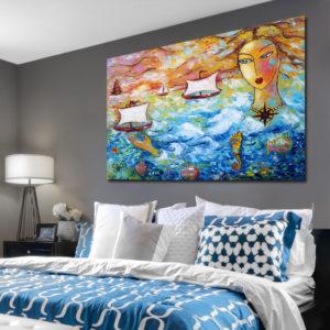 Obrazy malowane ręcznie widoki wiejskie, krajobrazy i pejzaże wiosenne