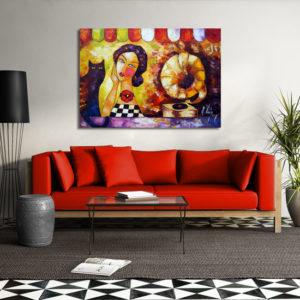 Modne obrazy ręcznie malowane do salonu