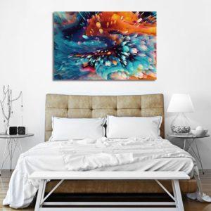 nowoczesne malarstwo obrazy akrylowe z abstrakcjami