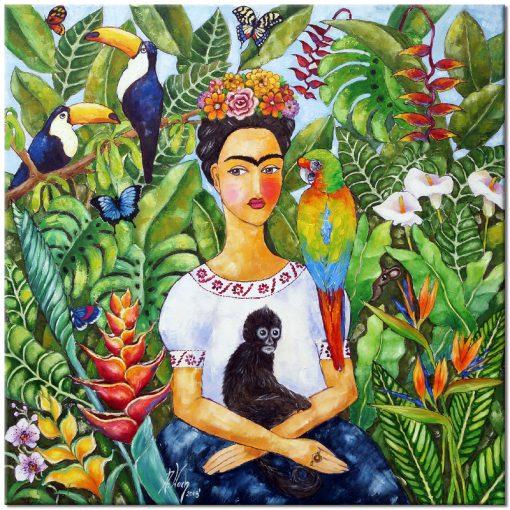 obraz ręcznie malowany Frida