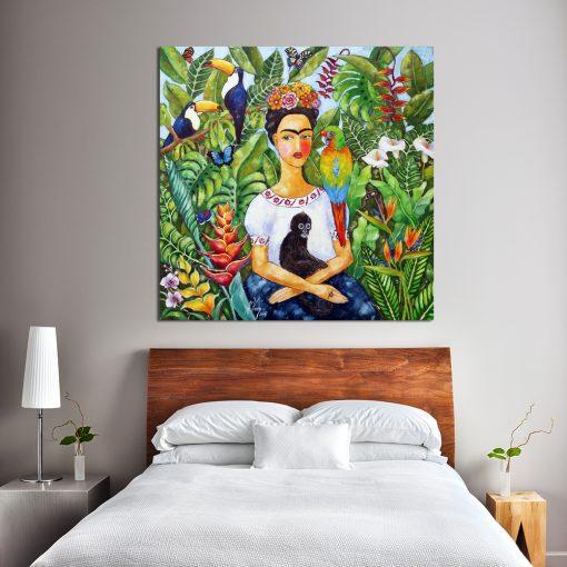 obraz z tropikalną dżunglą
