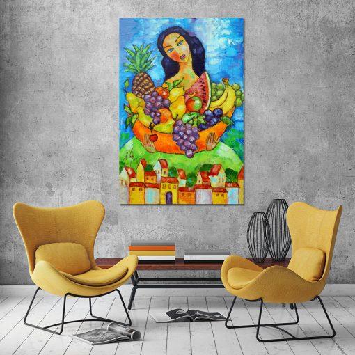 nowoczesne obrazy olejne do salonu