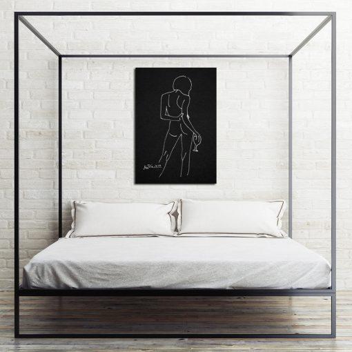 obraz do sypialni z kobiecym aktem