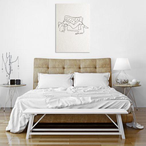 obrazy minimalistyczne do sypialni