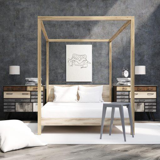 obraz do sypialni rysunek akt