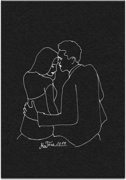 obraz zakochaną parą do sypialni