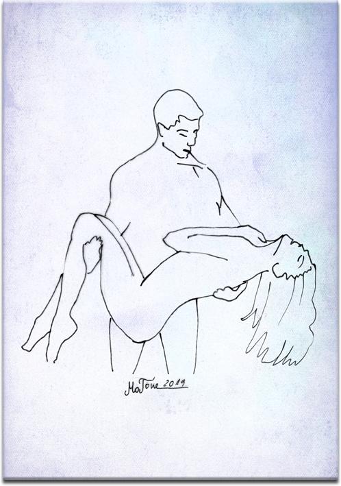 obraz ze zmysłową parą