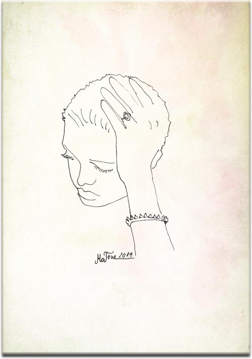 obraz z portretem kobiety