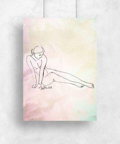 obraz z nagą dziewczyną