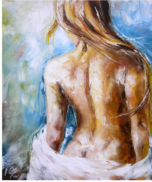 obraz z naga kobietą