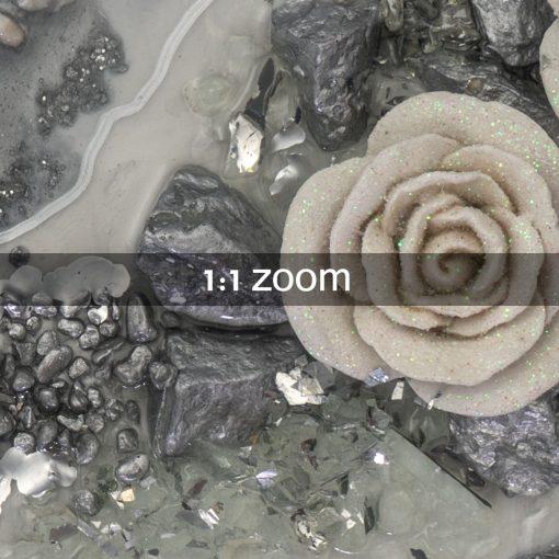Trójwymiarowy obraz malowany żywicą z różami 3