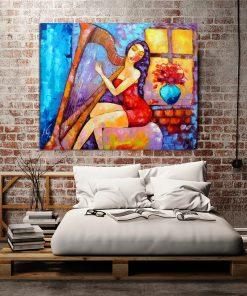 obraz olejny do sypialni