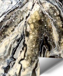 Fototapeta dekoracja z kamieniami abstrakcja żywiczna