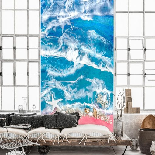 Fototapeta salon morze muszle kamieni fale