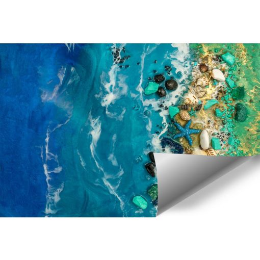 Fototapeta dekoracja z kamieniami resin art