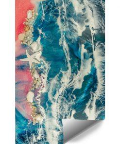 Fototapeta kompozycja malarska - resin sea
