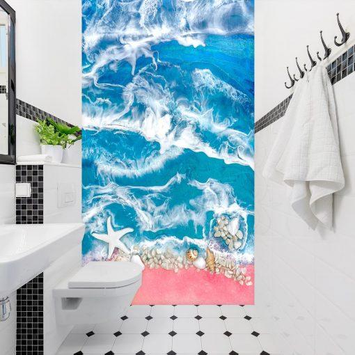 Dekoracja morze niebieskie - fototapeta do łazienki