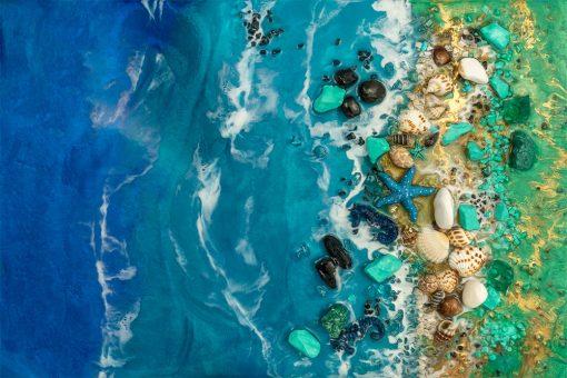 fototapeta żywiczna reprodukcja morski motyw