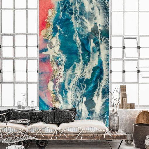 Fototapeta do salonu - dekoracja żywiczna morze