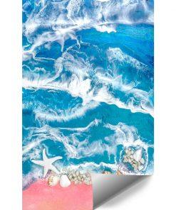 Fototapeta kompozycja malarska niebieskie morze i kamienie