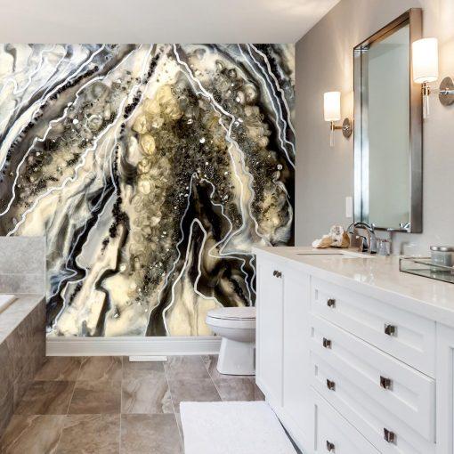 Fototapeta do łazienki żywiczna abstrakcja